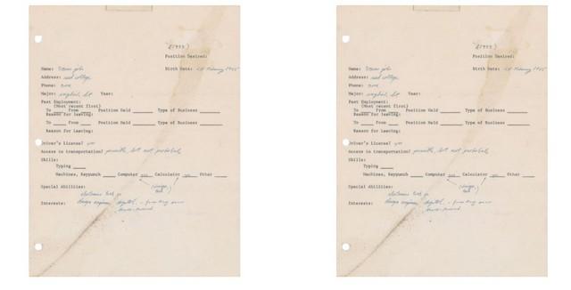 Đơn xin việc viết tay của Steve Job được bán dưới dạng NFT