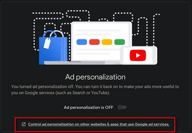 Kiểm soát cá nhân hóa quảng cáo trên các trang web khác
