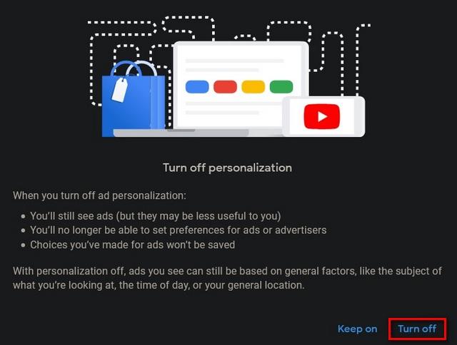 tắt cá nhân hóa quảng cáo trên google