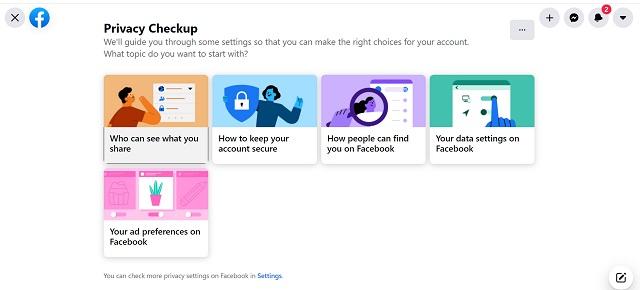 Facebook  kiểm tra quyền riêng tư