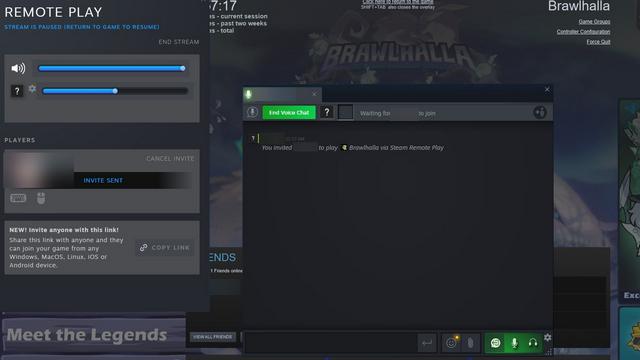 chơi từ xa cùng nhau giao diện người dùng