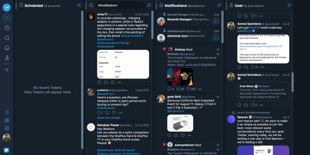thiết kế tweetdeck cũ