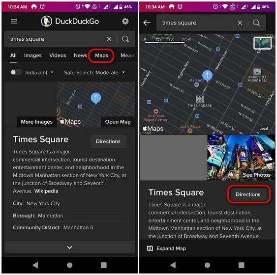 Sử dụng Apple Bản đồ trên Android