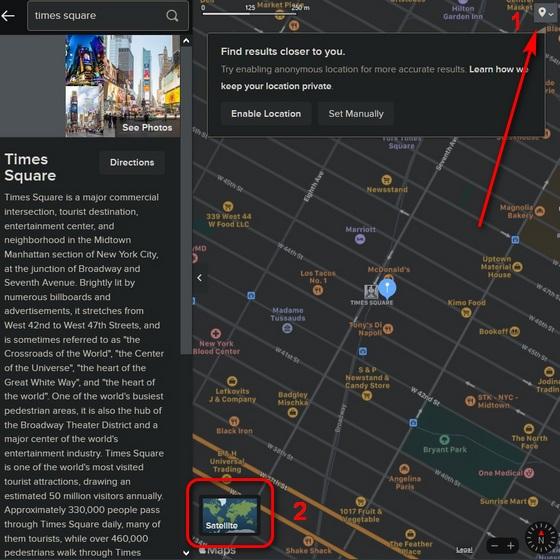 Apple  Bản đồ trên DuckDuckGo