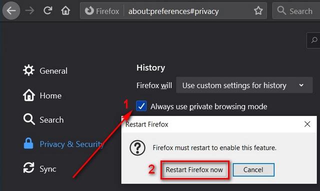 Mở Mozilla Firefox, Google Chrome, Microsoft Edge Chromium ở Chế độ ẩn danh riêng tư