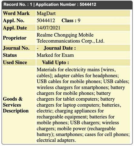 """Realme nộp đơn đăng ký nhãn hiệu cho """"MagDart"""""""