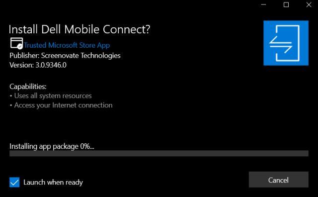 Sử dụng Dell Mobile Connect trên bất kỳ Windows 10 PC (2021)