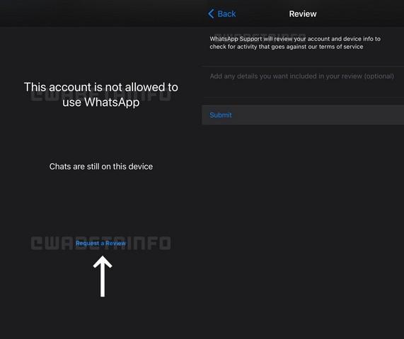WhatsApp sẽ cho phép người dùng bị cấm
