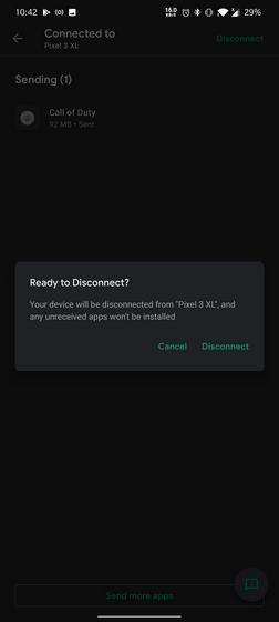 ngắt kết nối thiết bị