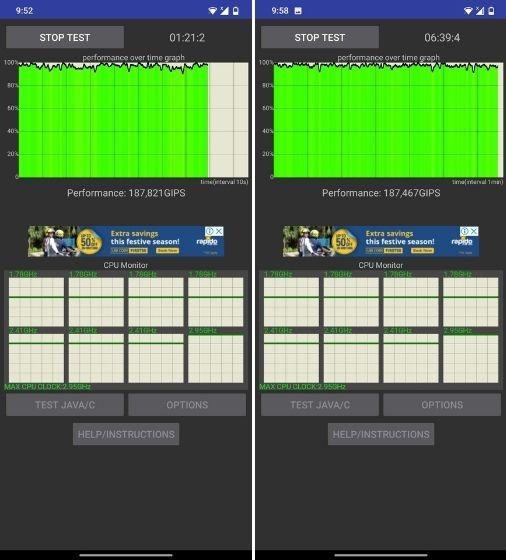 Kiểm tra điều tiết CPU trên điện thoại thông minh