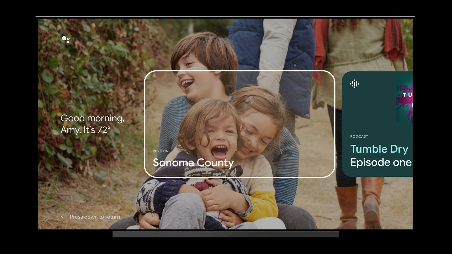 Google TV trong nháy mắt các thẻ được cá nhân hóa