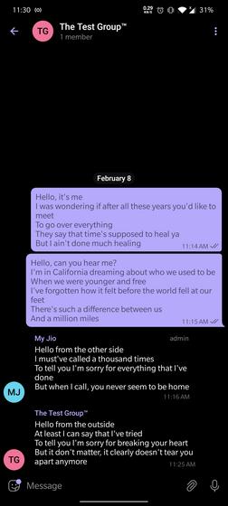 bức điện tin nhắn nhóm ẩn danh