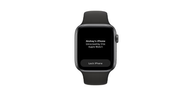 khóa iphone bằng apple watch