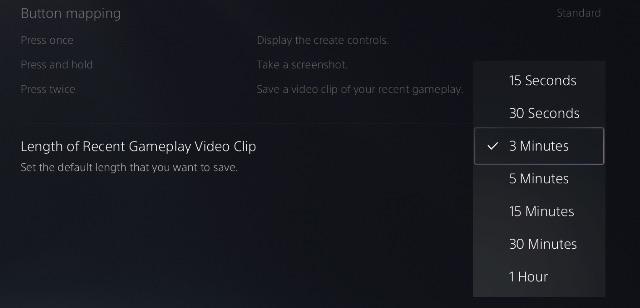 điều chỉnh thời lượng ghi lại trò chơi