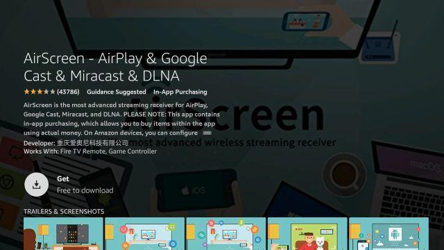 Phản chiếu màn hình iPhone đang bật Amazon Fire TV Dính vào