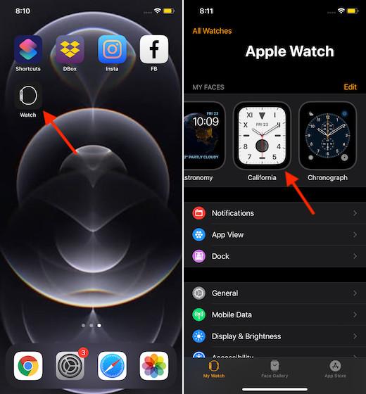 Khởi chạy ứng dụng đồng hồ cho iPhone