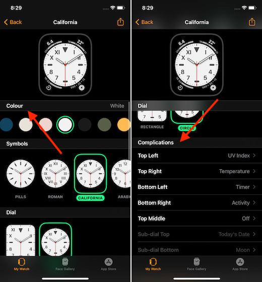 Tùy chỉnh đồng hồ trên Apple Watch