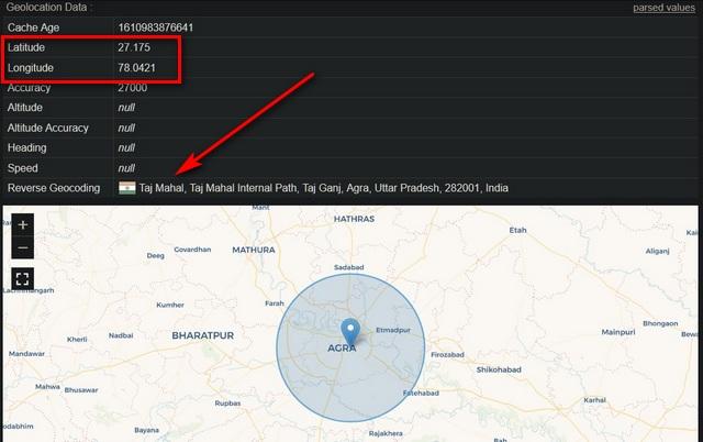 Vị trí địa lý giả mạo trong Mozilla Firefox