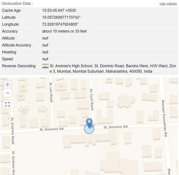 Vị trí địa lý giả mạo trong Google Chrome