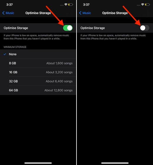 Tắt tối ưu hóa bộ nhớ trên iPhone và iPad