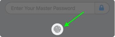 Nhấp vào Touch ID