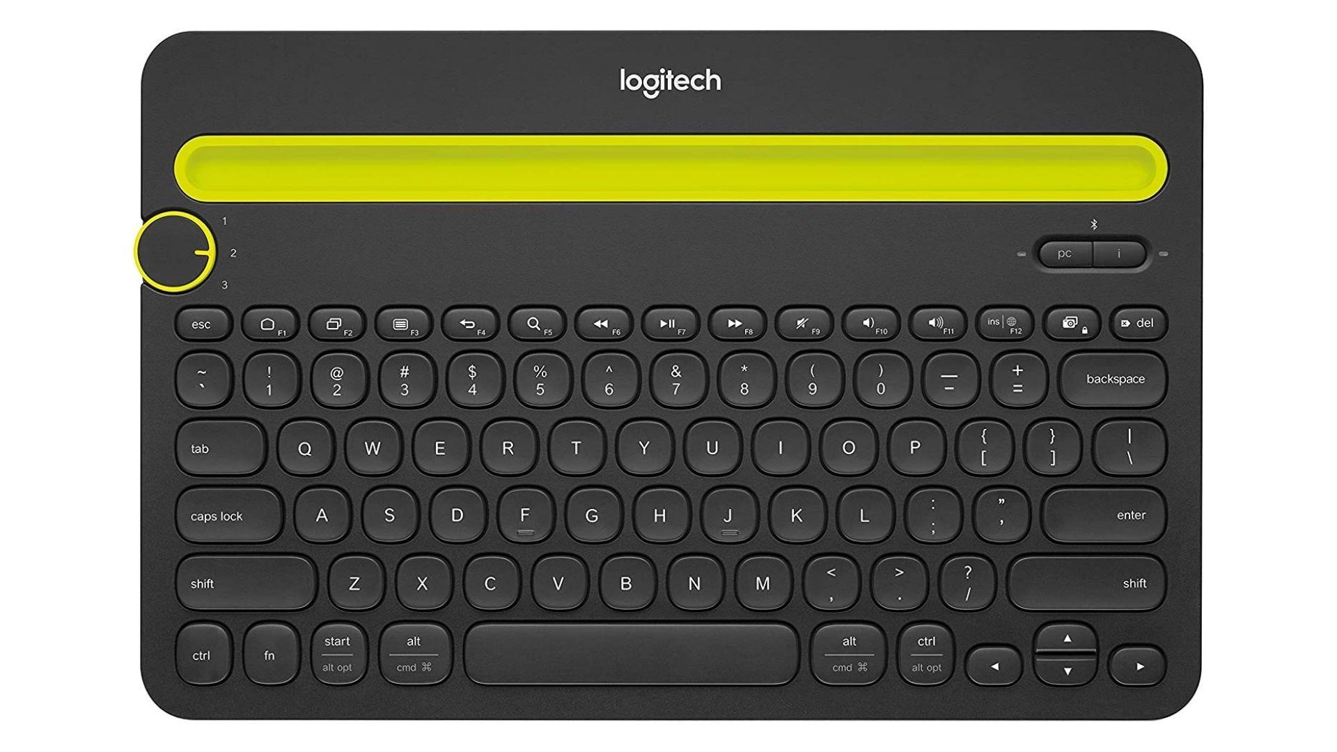 Bàn phím không dây di động đa thiết bị Bluetooth K480 của Logitech