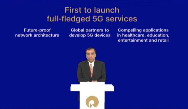 jio 5g - lần đầu tiên ra mắt dịch vụ mạng ở Ấn Độ