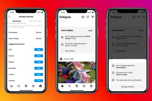 Instagram  kiểm tra tính năng bài đăng được đề xuất