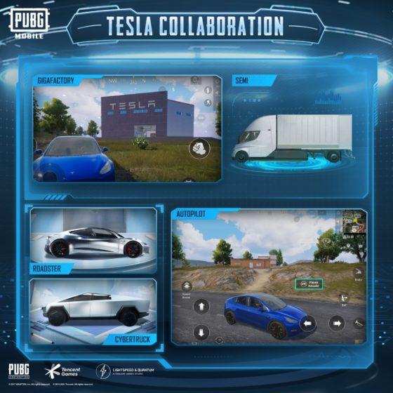 Bây giờ bạn có thể lái xe Tesla và tham quan Gigafactory trong PUBG Mobile