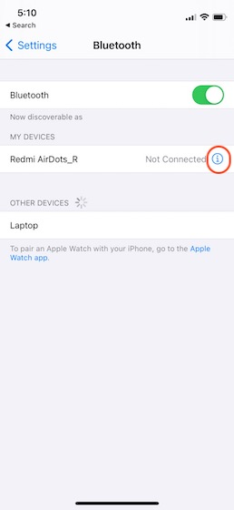 thiết bị bluetooth lable trên iPhone 4