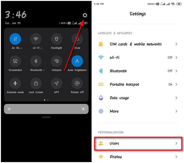 Chế độ người dùng Android