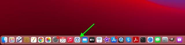 Khởi chạy 1Password trên Mac