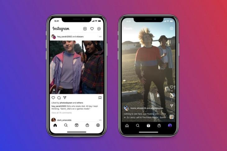 cuộn phim cộng tác trên instagram và các bài đăng trên nguồn cấp dữ liệu