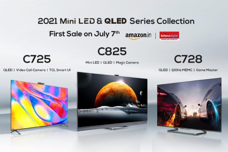 TV 4K TCL C825, TCL C728, TCL C725 ra mắt tại Ấn Độ Giá khởi điểm Rs.  64.990