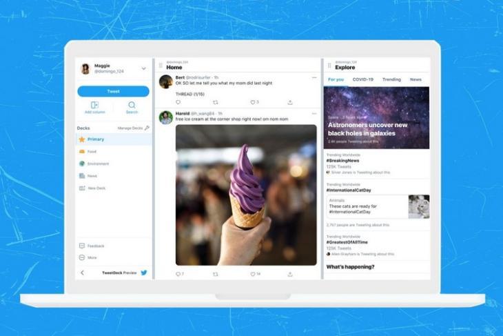 Twitter  Đưa ra phiên bản xem trước mới của TweetDeck